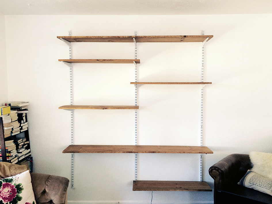 DIY Open Mounted Shelf Shelving Unit  Living Room
