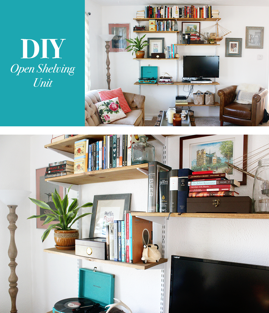 diy open shelving living room unit. Black Bedroom Furniture Sets. Home Design Ideas