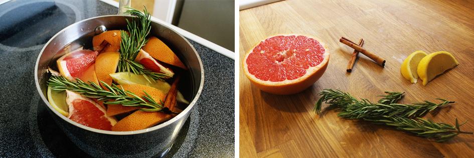 Grapefruit, Lemon + Rosemary Potpourri Recipe | via: www.npdodge.com