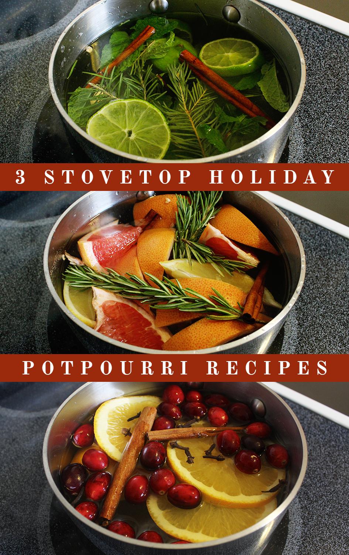 3 Stovetop Holiday Potpourri Recipes | via: www.npdodge.com