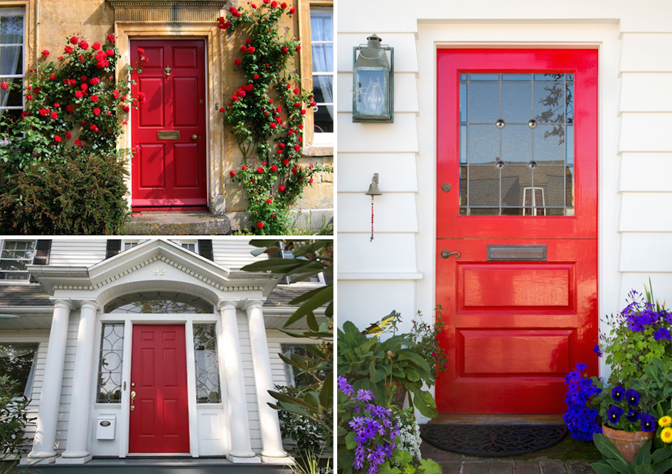 Tradition Of Painting A Front Door Red
