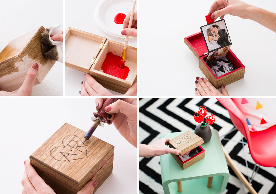 Diy Valentine Photo Box